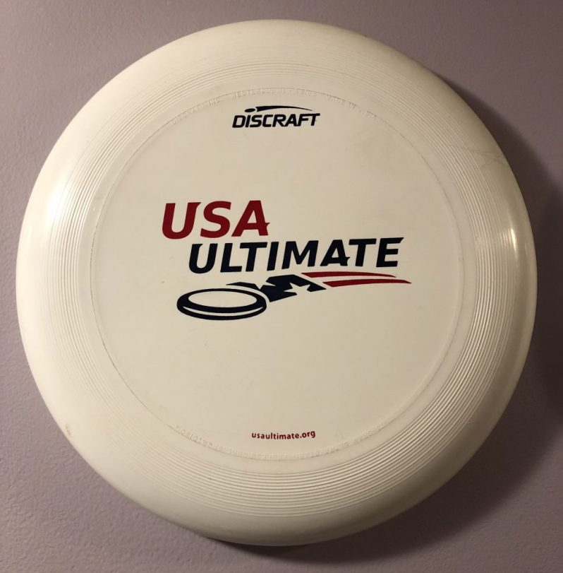 A USA Ultimate disc on the wall.