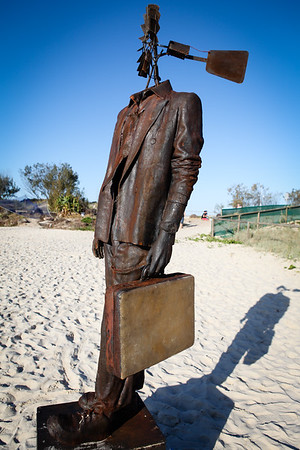 Windman, Corey Thomas - Swell Sculpture Festival 2012, Visit 1; Currumbin, Gold Coast, Queensland, Australia; 20 September 2012. Photos by Des Thureson