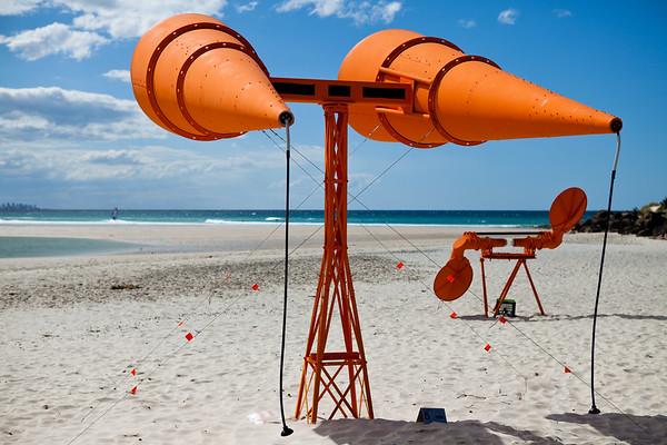 War Ears, by Pat Hoffie and Stefan Purcell - Swell Sculpture Festival, Pacific Parade, Currumbin Beach, Gold Coast, Queensland, Australia. Photos by Des Thureson:  http://disci.smugmug.com.