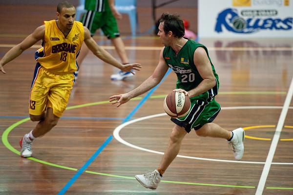 Adam Darragh - QBL Quarter Final Basketball: Gold Coast Rollers v Brisbane Capitals; Carrara, Gold Coast, Queensland, Australia. Photos by Des Thureson:  http://disci.smugmug.com.