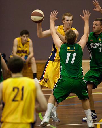 Tom Garlepp, Dave Gurney - QBL Quarter Final Basketball: Gold Coast Rollers v Brisbane Capitals; Carrara, Gold Coast, Queensland, Australia. Photos by Des Thureson:  http://disci.smugmug.com.