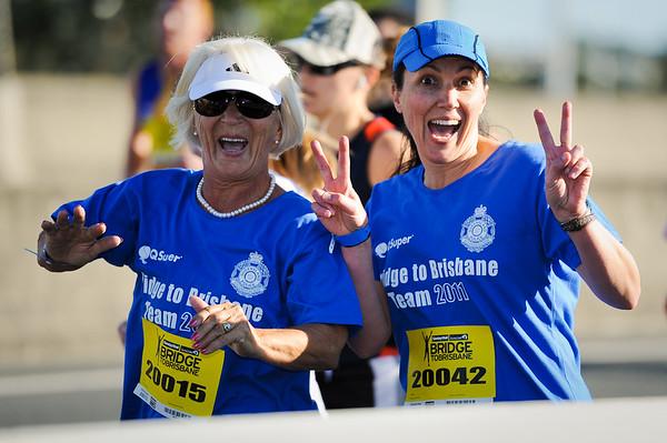 2011 Bridge to Brisbane Fun Run; Sir Leo Hielscher Bridge (Gateway Bridge) to RNA Showgrounds. Photos by Des Thureson:  http://disci.smugmug.com.