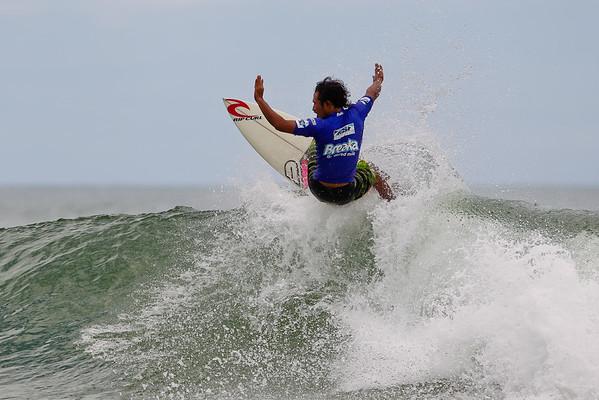 Putra Hermawan (Indonesia) - Breaka Burleigh Surf Pro - Surfing; Burleigh Heads, Gold Coast, Queensland, Australia. Wednesday 8 February 2012. Photos by Des Thureson: http://disci.smugmug.com
