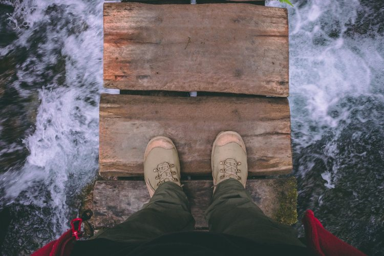 Feet above water