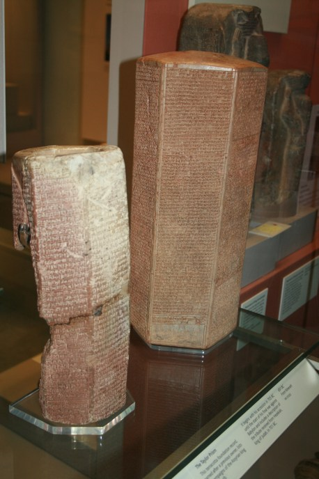 A chronicle of Sennacherib's conquests, including his failed siege on Jerusalem.