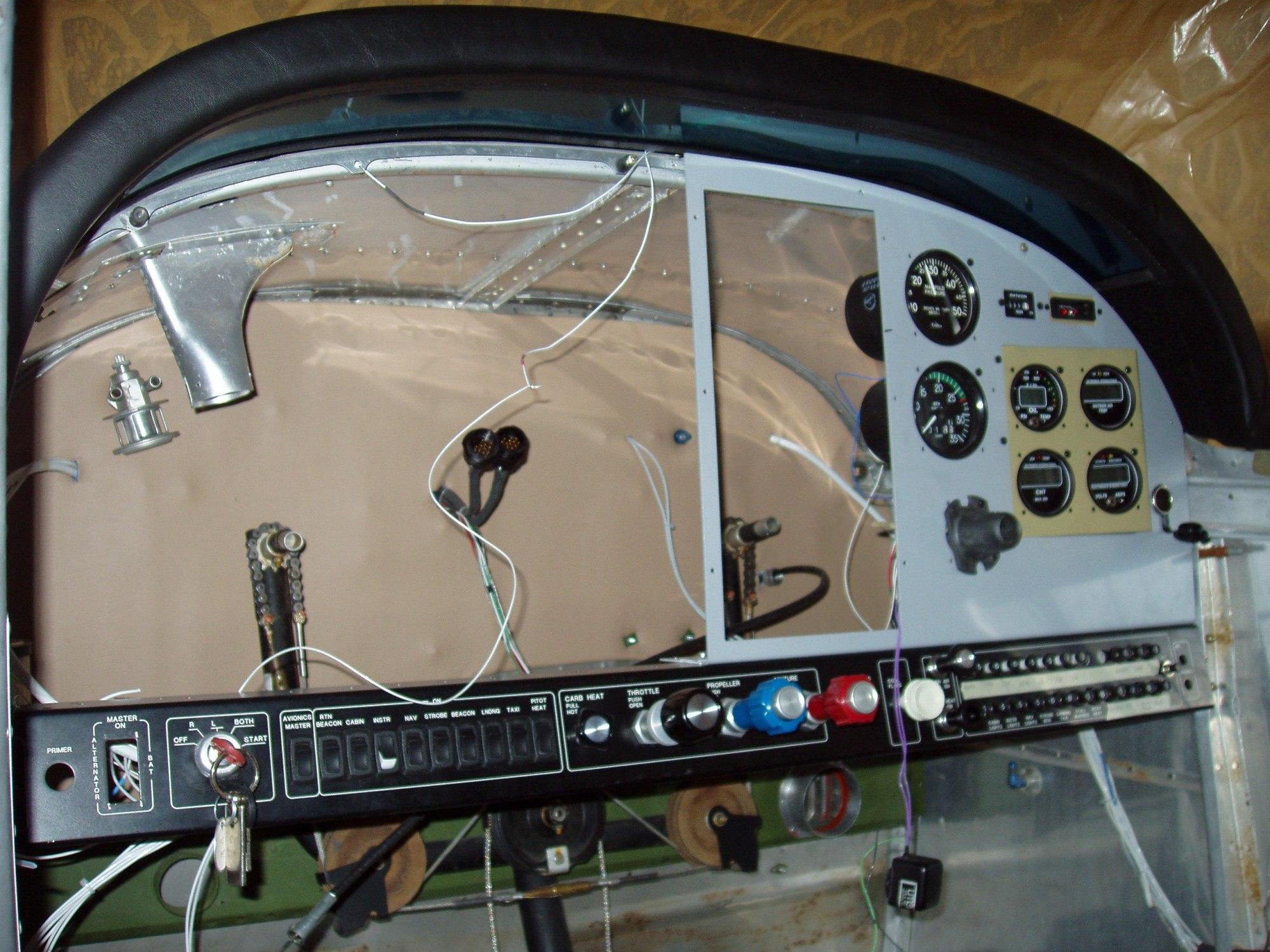 hight resolution of cessna 180 skywagon restoration tailwheel cessna 180 skywagon instrument panel under restoriation tailwheel