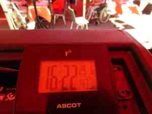 Temperatur im Pavillon bei einer Tagesveranstaltung