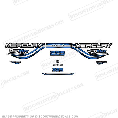 Mercury 225hp Optimax Decals- 1999 (Blue)