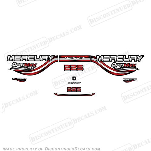 Mercury 225hp Optimax Decals- 1999 (Red)