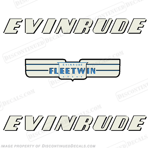 Evinrude 1952 7.5hp Fleetwin Decal Kit