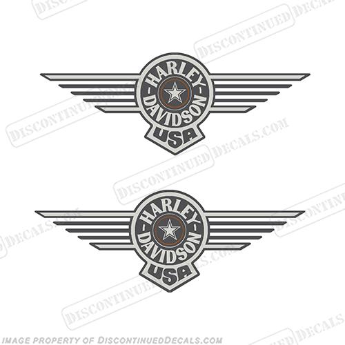 Harley-Davidson Fuel Tank Motorcycle Decals (Set of 2