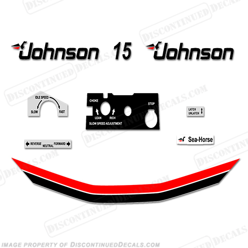 Johnson or Evinrude Twist Grip Throttle Control Decal