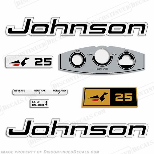 Johnson 1969 25hp Decals