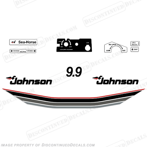 Johnson 1985 9.9hp Decals