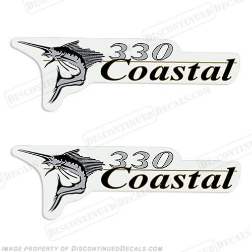 Wellcraft Coastal 330 Logo Boat Decals (Set of 2)