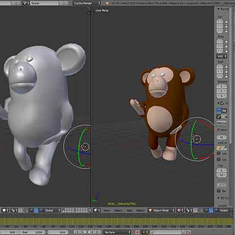 DiscoPix Blender 3d Monkey