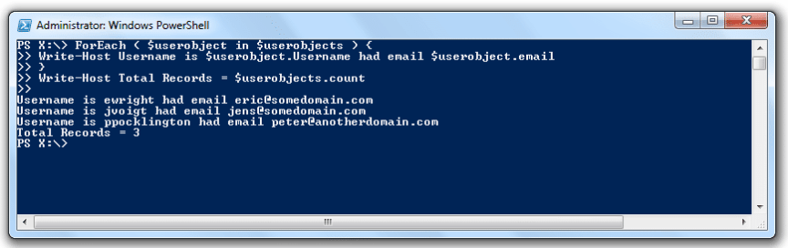 powershell import-csv foreach