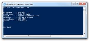 powershell import csv array