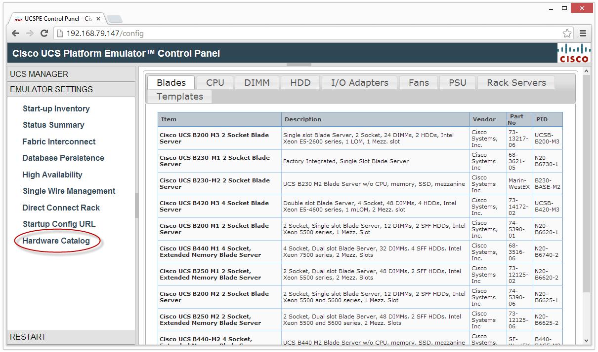 Cisco UCS Platform Emulator on VMware Workstation