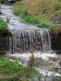 waterfall overflow stream