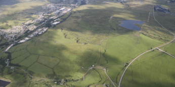 Aerial photograph of Nant Llesg