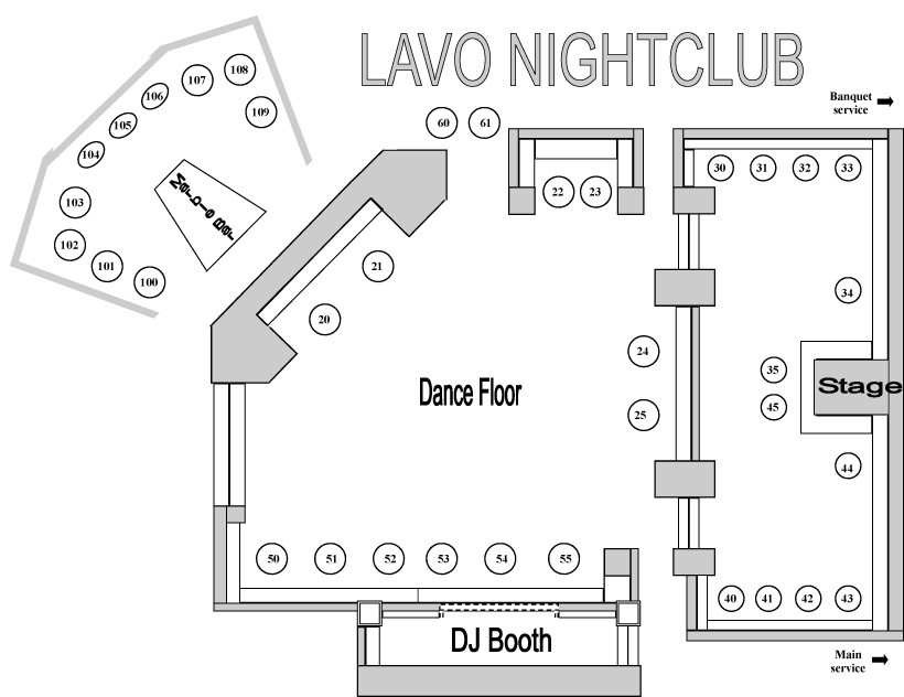 Lavo LV Bottle Service