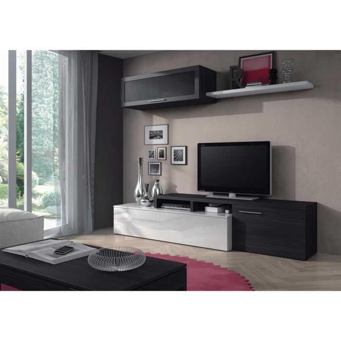 nexus meuble tv mural contemporain gris cendre blanc 016667g