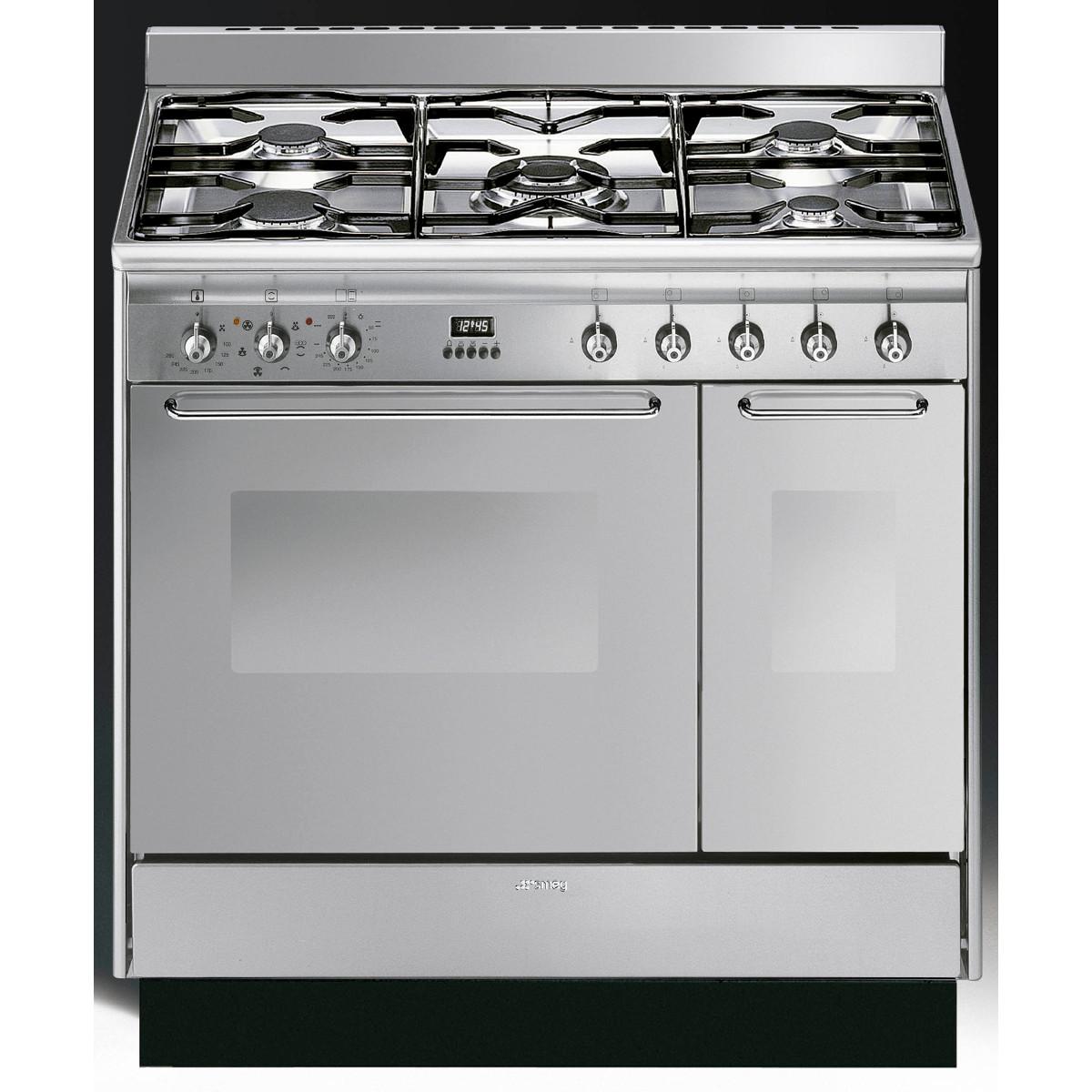 Smeg Cc92mx9 Cucina 90cm Dual Fuel Range Cooker  Discount
