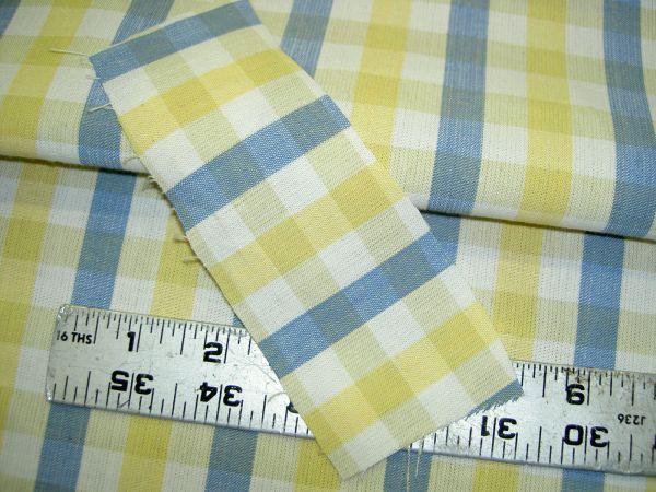 Additional Views Edgar Fabrics Stripe Check Plaid Yellow