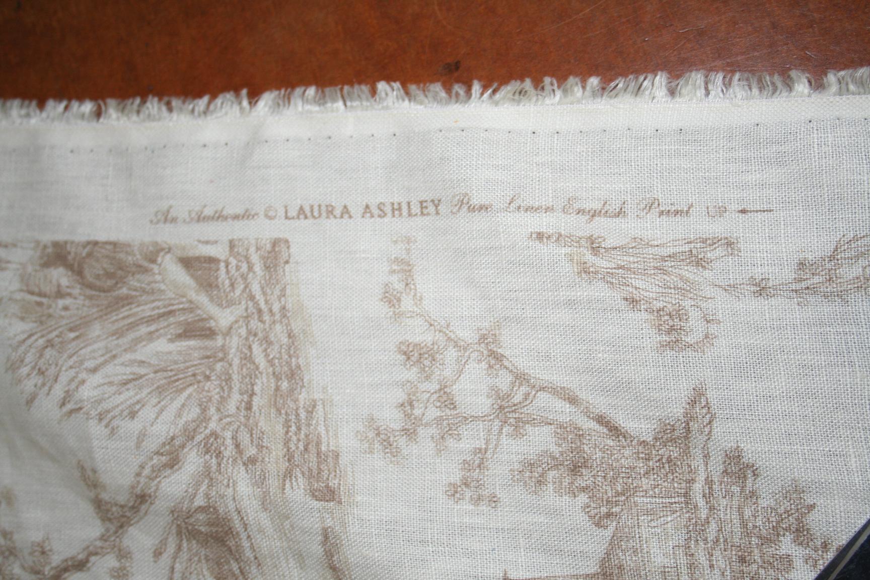Laura Ashley Pastimes Willow Linen Color114 Toile Portfolio Fabrics