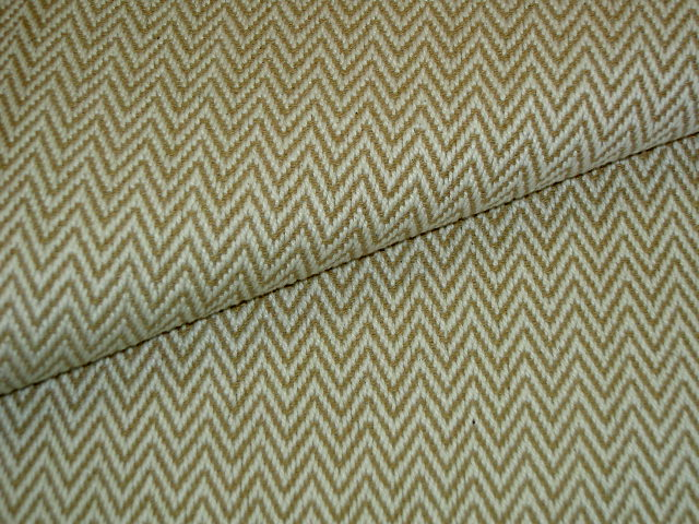 Laura & Kiran Chevron Twill Cream Home Decor Fabric By The