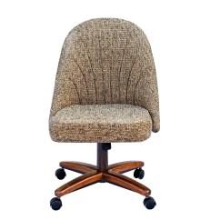 Chromcraft Furniture Kitchen Chair With Wheels Live Edge Table C128 936 Swivel Tilt Caster Side