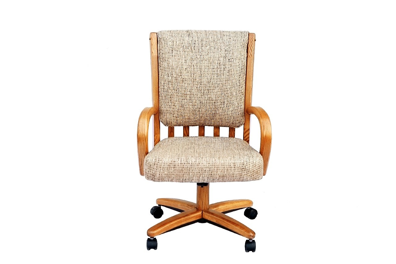 chromcraft furniture kitchen chair with wheels bakers rack c177 936 swivel tilt caster dining