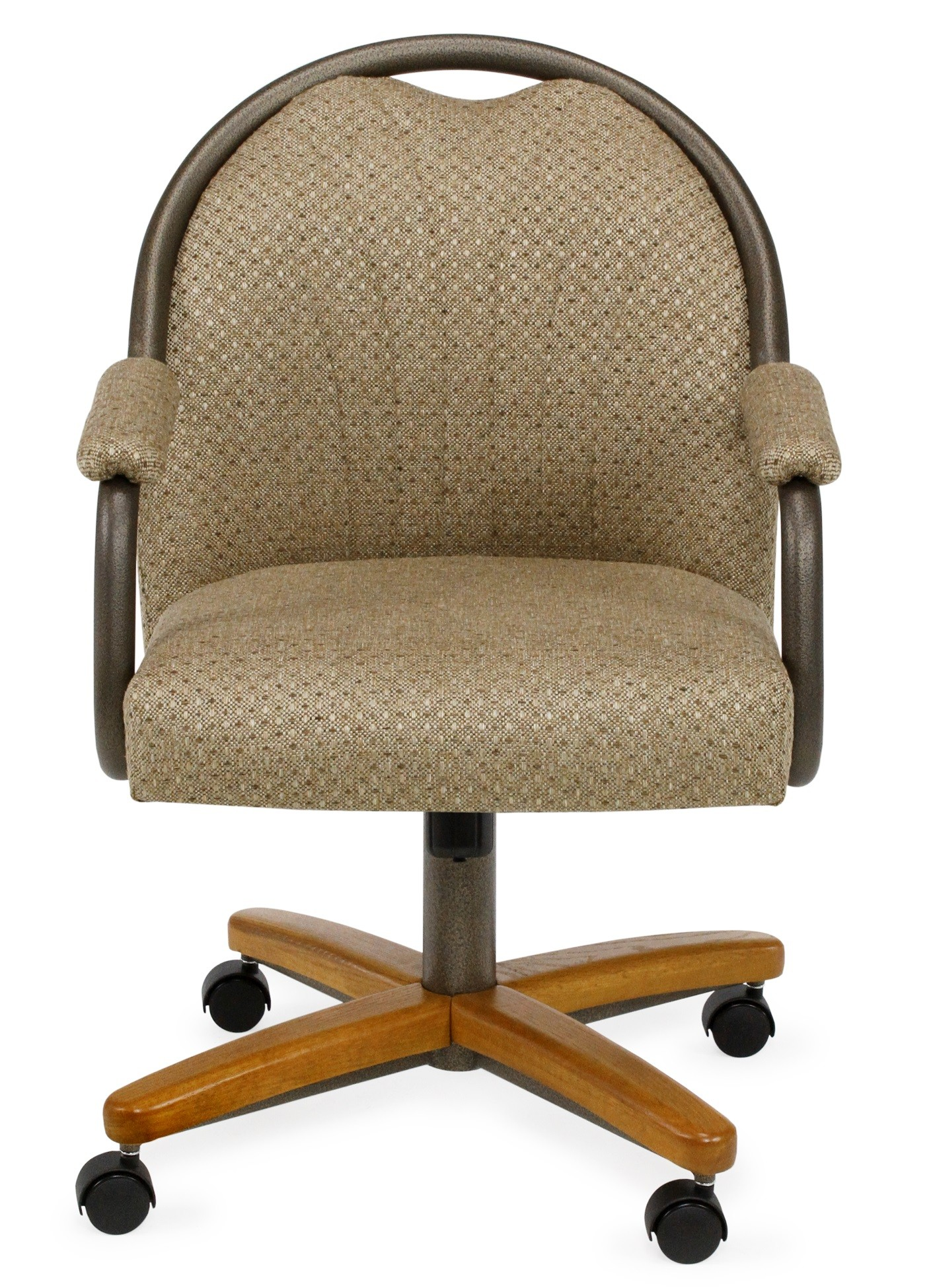 Roller Chairs Chromcraft C189 935 Swivel Tilt Roller Arm Chair