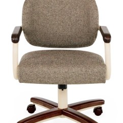 Swivel Chair No Castors Slipcovers For Lazy Boy Chairs Chromcraft C362 935 Caster Dinette Discount