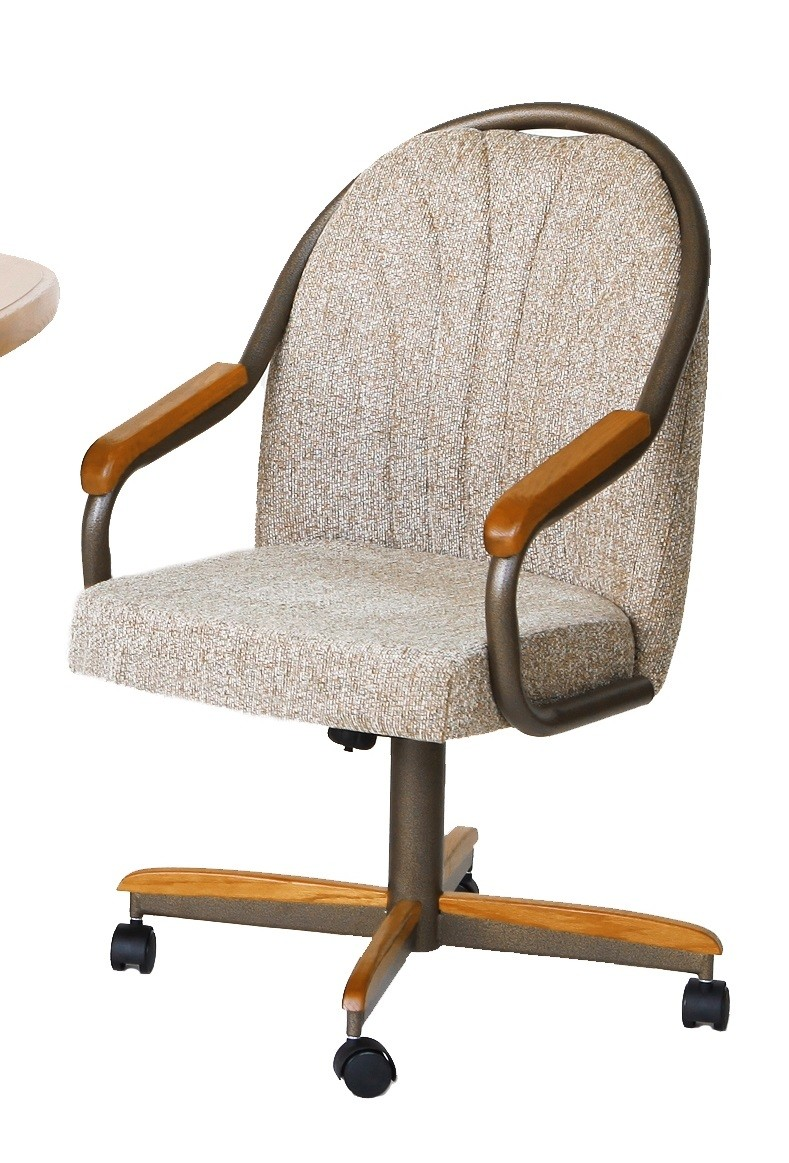 Douglas Casual Living Holly Swivel Tilt Caster Dining Chairs Discount Dinettes