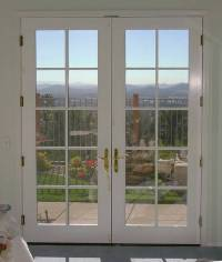 Mahogany Wood Double French Door with 10/5 Glass Prehung