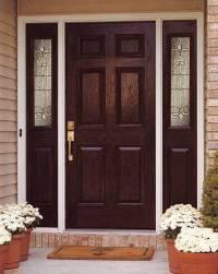 Entry Prehung 6 Panel Textured Fiberglass Door with 2 ...
