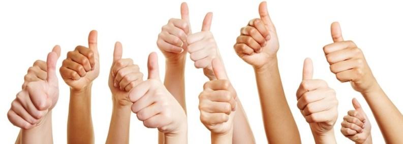 customer reviews thumbs up