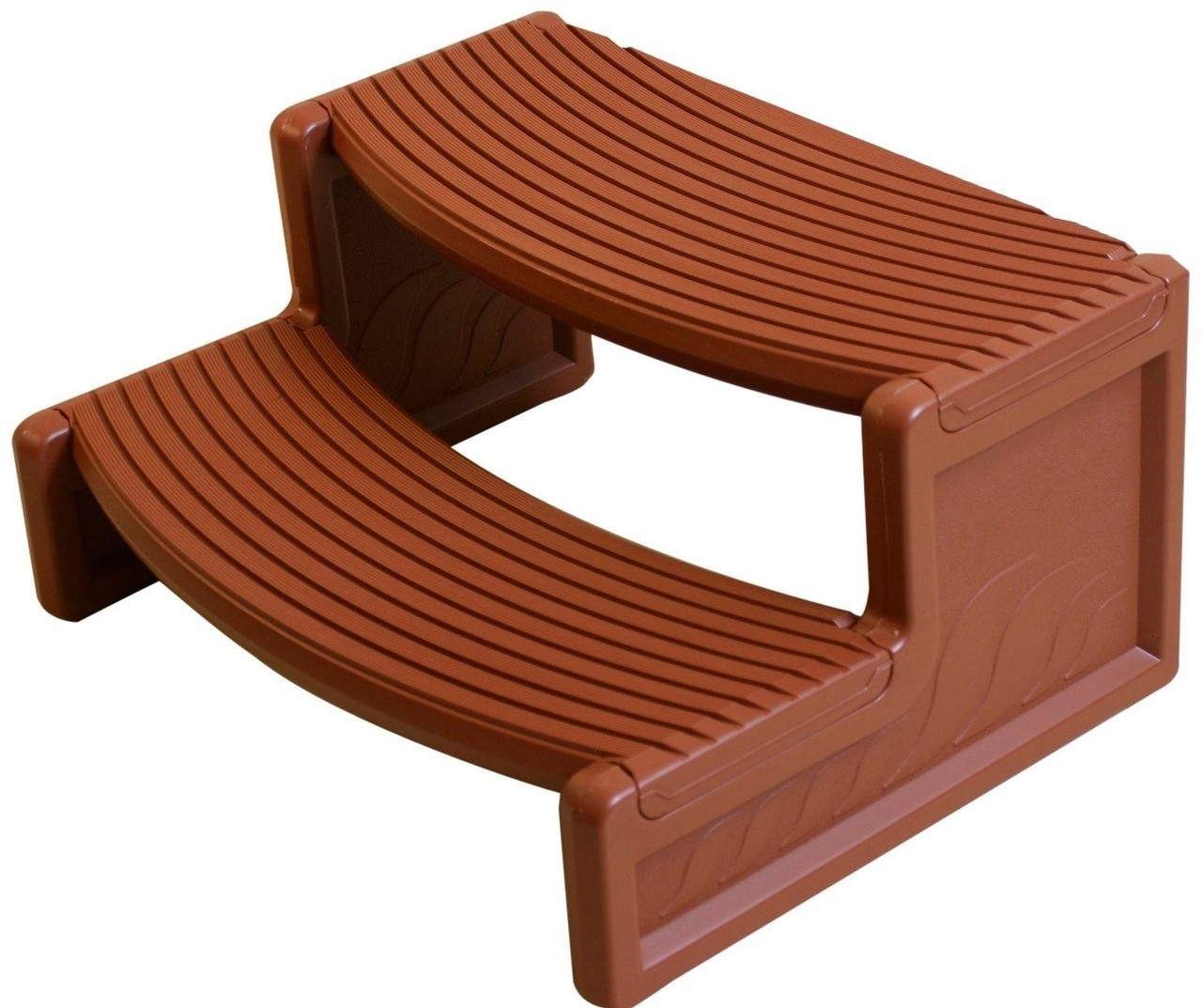 Hot Tub Steps Discount Hot Tubs For Sale | Ready Made Outdoor Steps | Inexpensive | Single | Grey Composite Decking | Wooden | Support