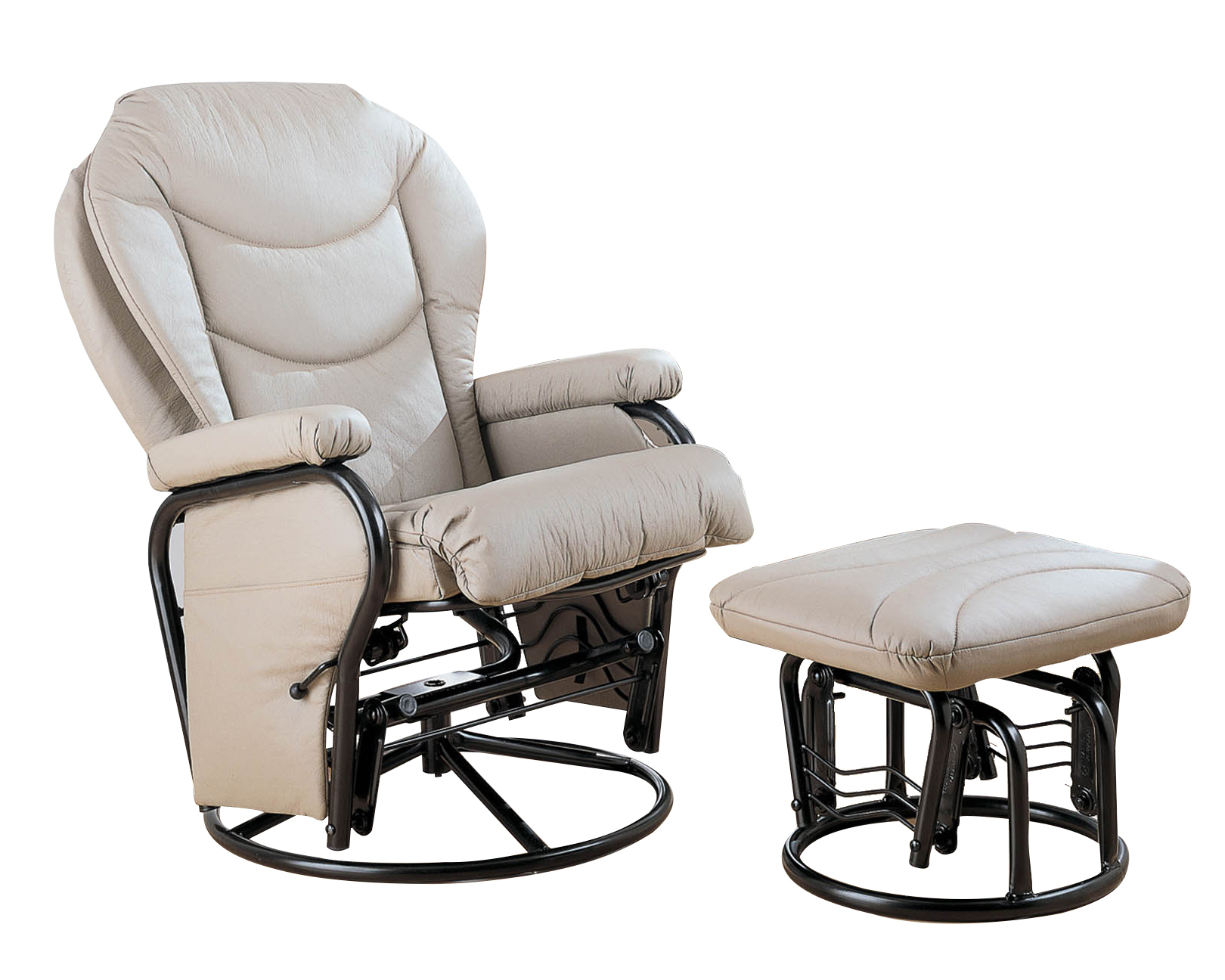 Glider Chair And Ottoman Coaster Reclining Glider Rocker And Ottoman 7040