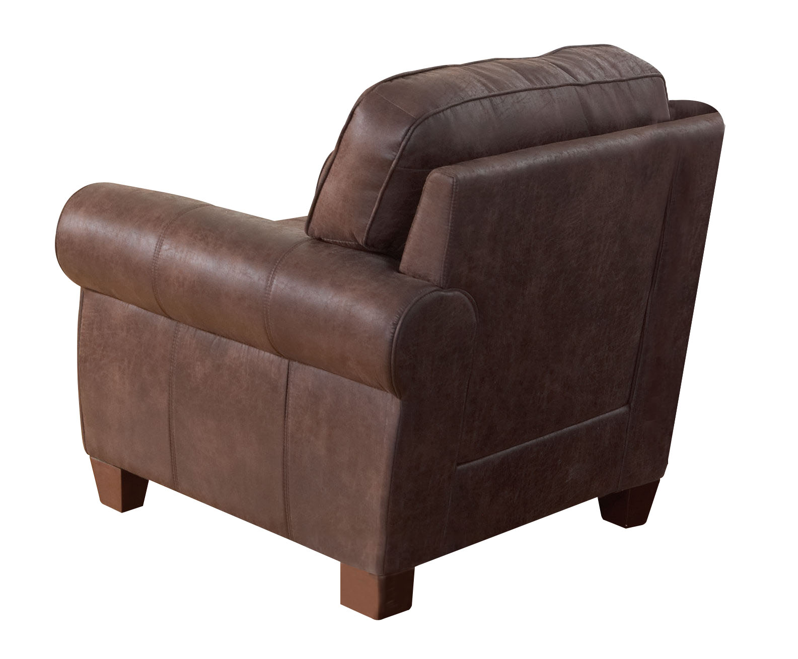 Stationary Chair Coaster Bentley Coated Microfiber Stationary Chair In Brown 504203
