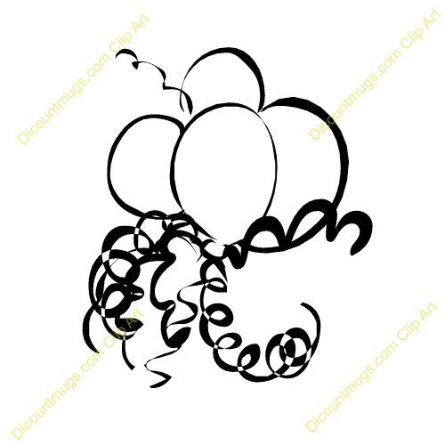 free balloons and streamers clipart