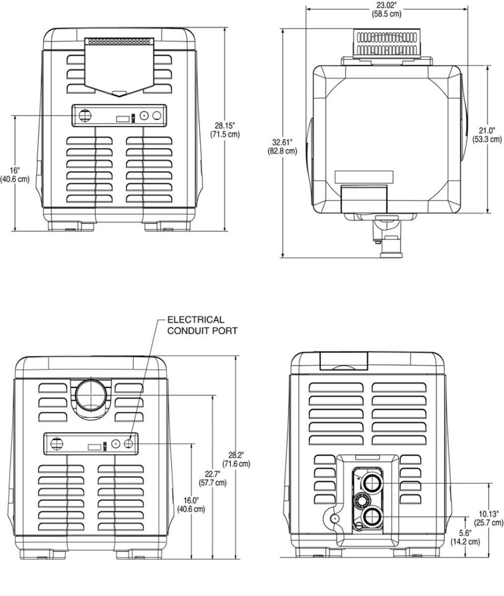 Pentair Mastertemp High Performance Gas Heater 460736