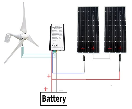 ECO-WORTHY 24 Volts 720 Watts Wind Solar Power: 1pc 12V