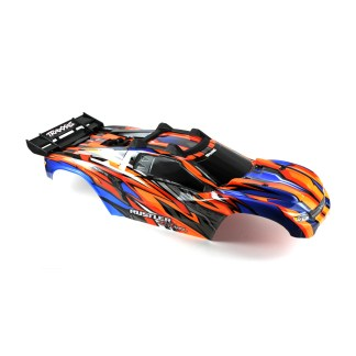 Traxxas Rustler 4X4 VXL Blue/Orange/Red Body Shell w/ clipless mounting