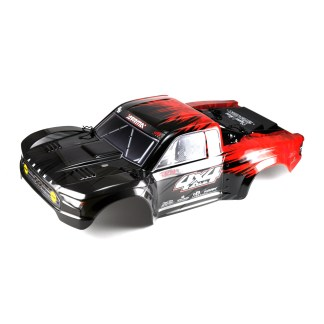 Arrma Senton V3 4X4 Mega Painted Decaled Trimmed Body Shell (Red/Black)