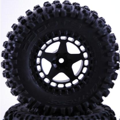 Arrma Senton 3S/Mega DBoots Fortress SC Tires and Matte Black Wheels AR550042