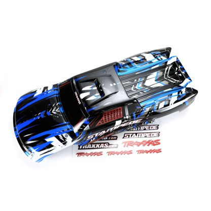 Traxxas Stampede 2WD XL-5 Body Shell Blue Black Factory Painted Decaled