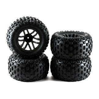 Arrma Granite V3 4X4 3S BLX Wheels Tires Set Glued dBoots Fortress MT ARA550086